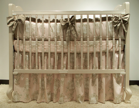 Angelica bedding on #200 Country French Rectangular Crib