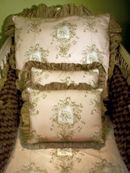 Angelica pillows shown resting inside a #200 crib