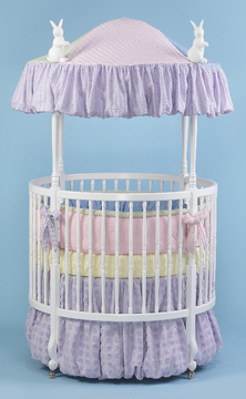 Coco Chenille bedding on #200 Country French Round Crib