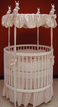 Danielle bedding on #200 Country French Round Crib