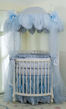 Prince of Monaco bedding on #206 Country French Round Crib