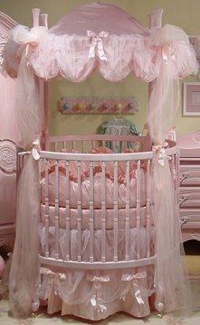 Princess of Monaco bedding on #206 Country French Round Crib