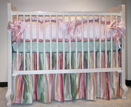 Madeleine bedding on #200 Country French Round Crib