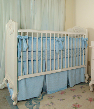 Pierre bedding on #200 Country French Rectangular Crib