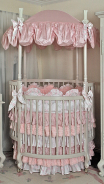 Princess and the Pea bedding on #206 Country French Round Crib