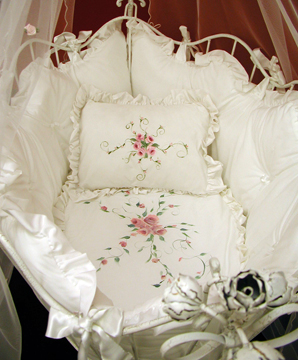 Rose Provençe bedding on #209 Country French Oval Cradle