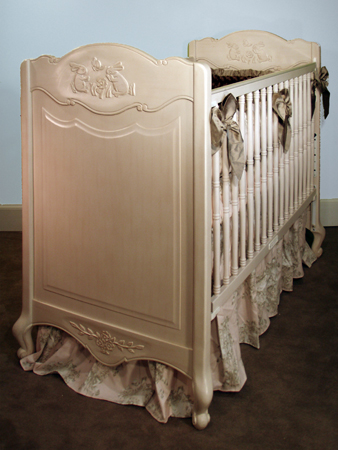 Country French Rectangular Crib